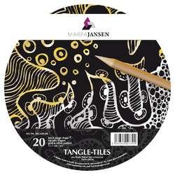 MARPA JANSEN Magic Paper® Tangle Tiles, Gold/Silber