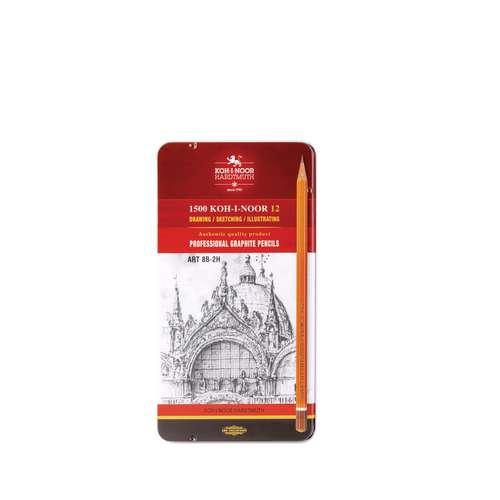 KOH-I-NOOR Graphit-Set 1502/II - Sortiment mit 12 Bleistiften