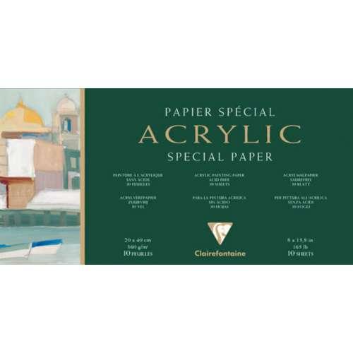 CLAIREFONTAINE ACRYLIC Acrylmalblock
