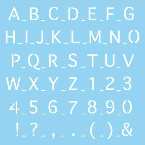 RAYHER Schablone Buchstaben und Zahlen