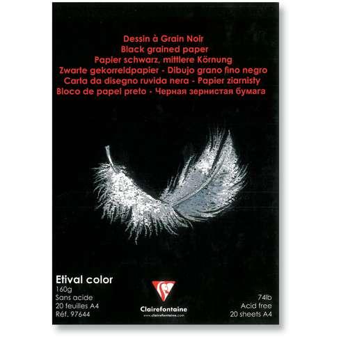 CLAIREFONTAINE ETIVAL Color Zeichenblock Schwarz
