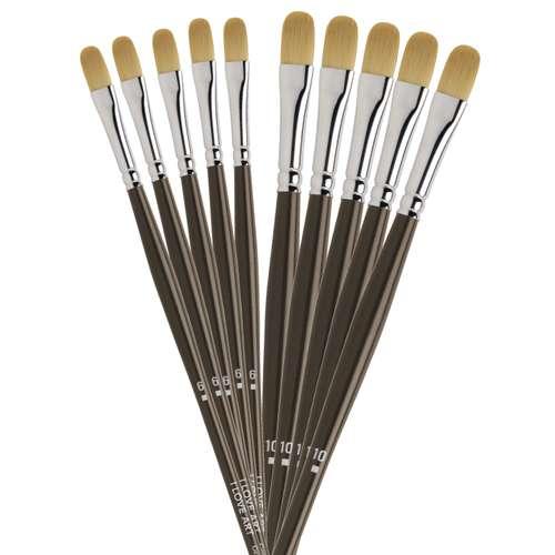 I LOVE ART Acrylpinsel-Set, Katzenzunge 5+5