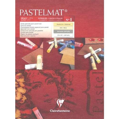 CLAIREFONTAINE PASTELMAT® Sortierung 1 Pastellblock