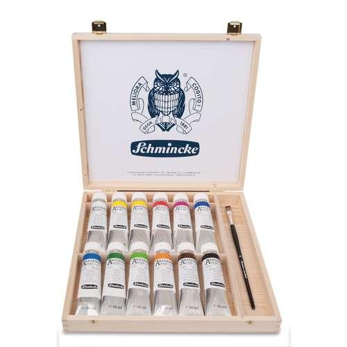 Schmincke AKADEMIE® Acrylfarben-Set im Holzkasten