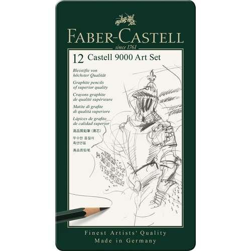 CASTELL® 9000 Bleistift-Sets, verschiedene Härtegrade