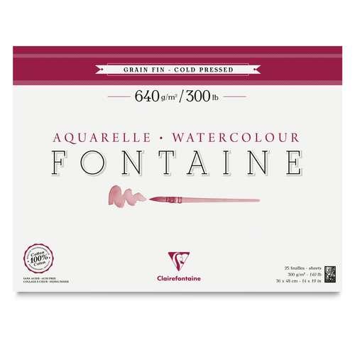 Clairefontaine Aquarellpapier FONTAINE 640 g/qm