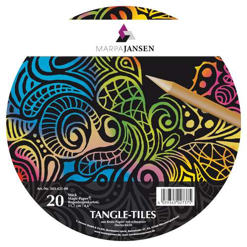 MARPA JANSEN Magic Paper® Tangle Tiles, Regenbogen