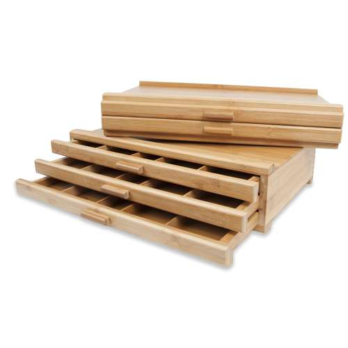 GERSTAECKER Bambus-Schubladenkästen