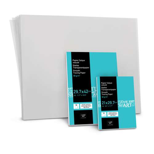 I LOVE ART Transparentpapier-Block