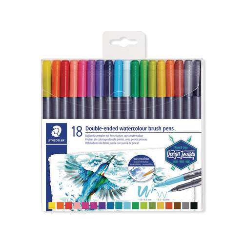 STAEDTLER® 3001 Double-ended watercolour brush pens-Sets