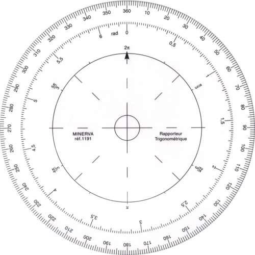 MINERVA Trigonometrie Kreis-Winkelmesser