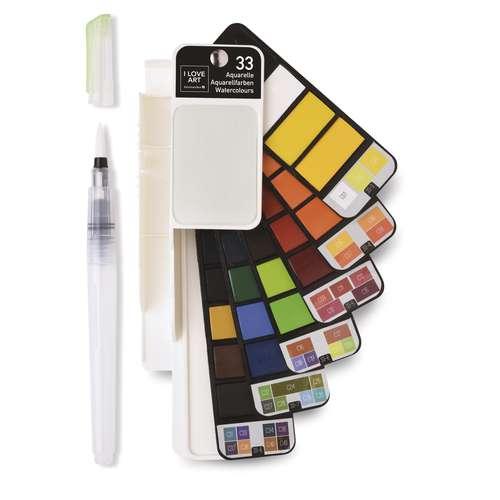 I LOVE ART Aquarellfarben Fächer-Set